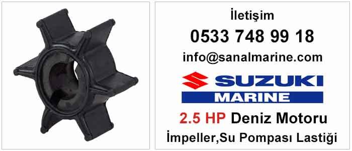 Suzuki 2.5 HP Deniz Motoru İmpeller Su Pompası Lastiği