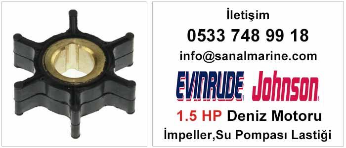 Evinrude - Johnson 1.5 HP Deniz Motoru İmpeller Su Pompası Lastiği